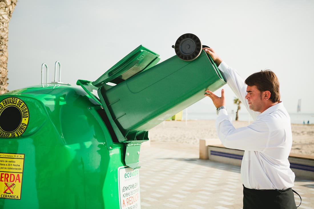 reciclaje de vidrio en verano